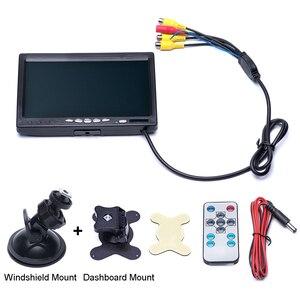 Image 5 - Podofo 7นิ้วหน้าจอแยก Quad Monitor 4CH วิดีโออินพุตกระจกสไตล์ที่จอดรถแดชบอร์ดสำหรับรถยนต์ด้านหลังกล้อง จัดแต่งทรงผม