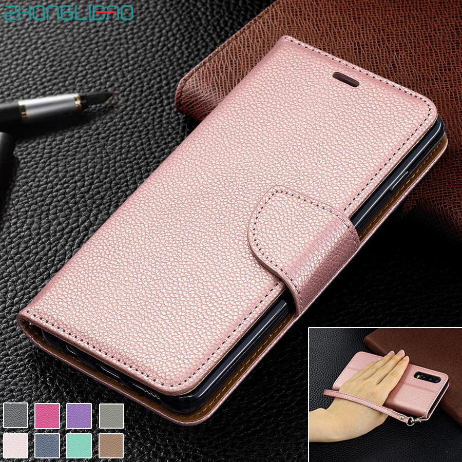 Luxury Leather Case for Huawei P SMART Z Plus Y5 Y6 <font><b>Y7</b></font> Y9 PRIME <font><b>2019</b></font> 2018 Flip Wallet Cover for Huawei Honor 9x 10 Lite 10i 8c image