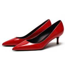 2020 White Red Women Shoes Woman High Heels Sexy Brand Design Slip On Pointed Toe Genuine Leather Summer Pumps Big Size C0034 цена 2017