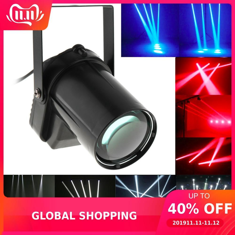 5W Red Blue White LED Beam Spotlight Stage Light Ball Rotating Pinspot Lamp For DJ Disco Bar KTV Party Stage Lighting Effect