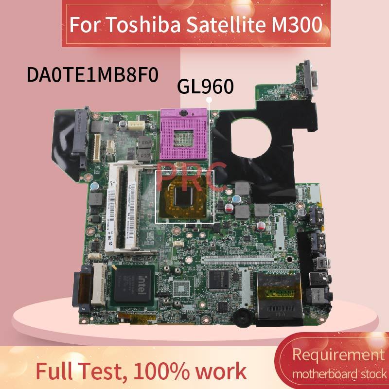 DA0TE1MB8F0 For Toshiba Satellite M300 M305 M800 GL960 DDR2 Notebook Mainboard Laptop Motherboard