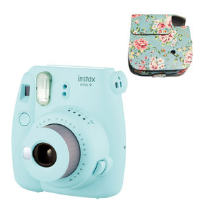 Fujifilm Once Imaging Camera Instax Mini 9 Instant Polaroid Cute Smart Beauty Gift For Kids 20 Pcs Photo Paper free Gift Bag