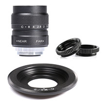 Fujian 25mm f/1.4 APS-C lente de cctv + anel adaptador + 2 anel macro para p anasonic/o lympus micro4/3 m4/3 câmera mirroless