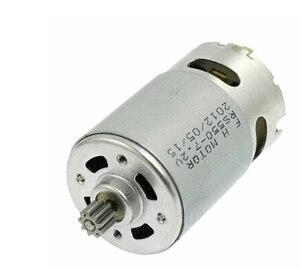 RS550 Motor 17 14 15 11 12Teeth 9Teeth 7.2 9.6 10.8 12V 14.4V 16.8 18V 21 25VGear 3mmShaft For Cordless Charge Drill Screwdriver