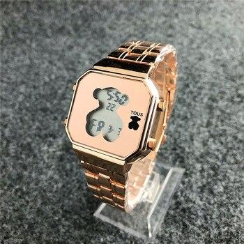 TOUS-reloj de pulsera para mujer, de cuarzo, informal, de cuero, deportivo
