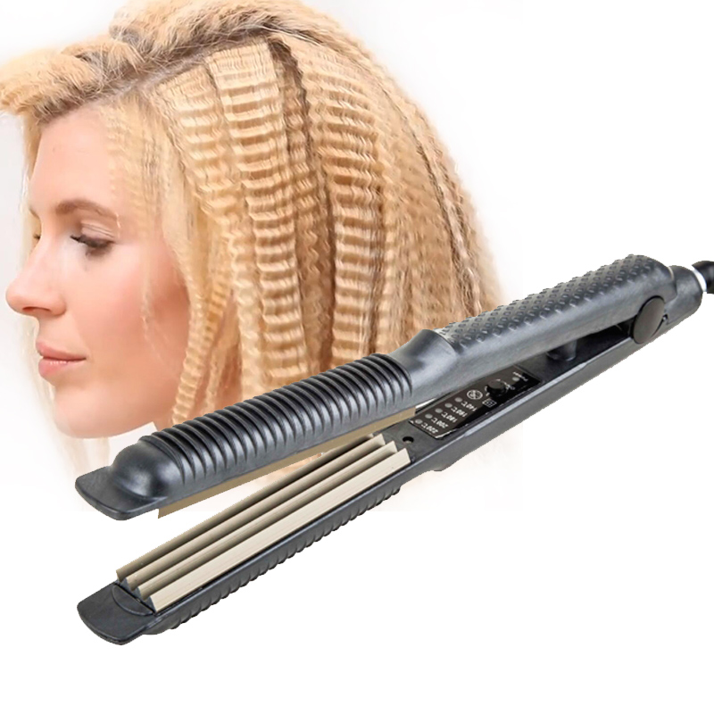 Professional Corrugated Iron Hair Fluffy Hair Styler Wave Corrugated Crimper Waves For Lady Straightening Hair Iron Styling Tool