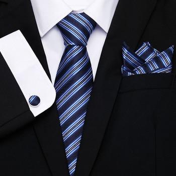 Mens Wedding Tie Gold Paisley Silk Hanky Set  8cm Fashion Designer Neck Ties For Men Party Dropshipping