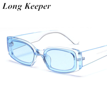 Vintage Rectangle Sunglasses Women 2020 Small Frame Square