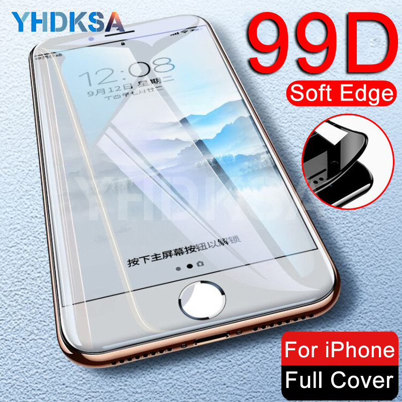 99D Full Curved Protective Tempered Glass On The For IPhone 8 7 6 6S Plus Glass Screen Protector IPhone 11 Pro X XR XS Max Film