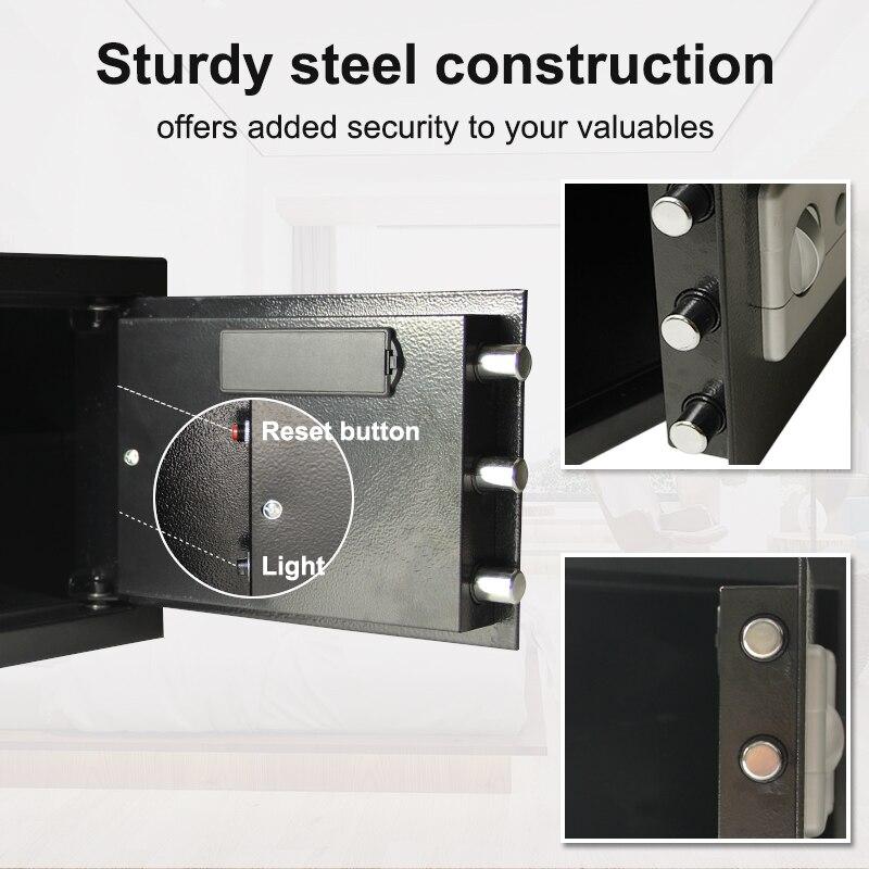 Купить с кэшбэком Luxury Digital Depository Drop Cash Safe Box Jewelry Home Hotel Smart Lock Keypad Safety Security Box Secret stash 7.5kg