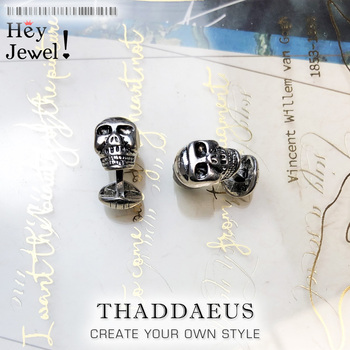 Skull Cuff Links,2020 Brand Fashion Jewelry Europe Style 925 Sterling Silver Bijoux Necklace Accessories Gift For  Rebel Men