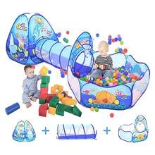 Tent Playpen Tunnel Ball-Pool Bebe-Balls Pit Portable Kids Children Camping Large