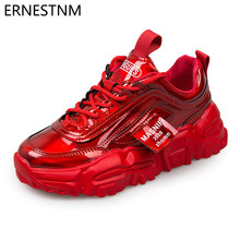 Platform Sneakers Sequined Cloth Green Bling Womens Shoes Tenis Feminino Fashion Chunky Sneakers Symphony Ladies Shoes ERNESTNM(China)