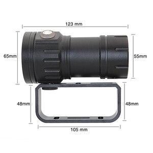 Image 5 - XHP90 فيديو ملء ضوء الغوص عمق 80 متر مصباح يدوي تحت الماء XM L2 أزرق أبيض أحمر التصوير كاميرا فيديو الشعلة الإضاءة