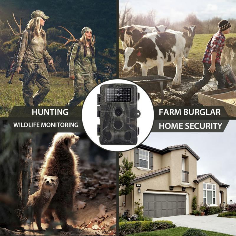 HC801A HD Digital Hunting Camera 16MP Trail Camera Night Vision 20m Hunting Camera IP54 Waterproof 120 Degree Angle Wild Camera