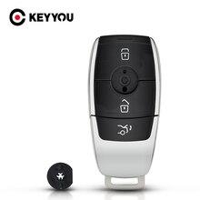 KEYYOU Remote Key Fall Shell Für Mercedes Benz 2017 E Klasse W213 2018 S Klasse 3 Tasten Smart Key Fob ersatz Auto Styling