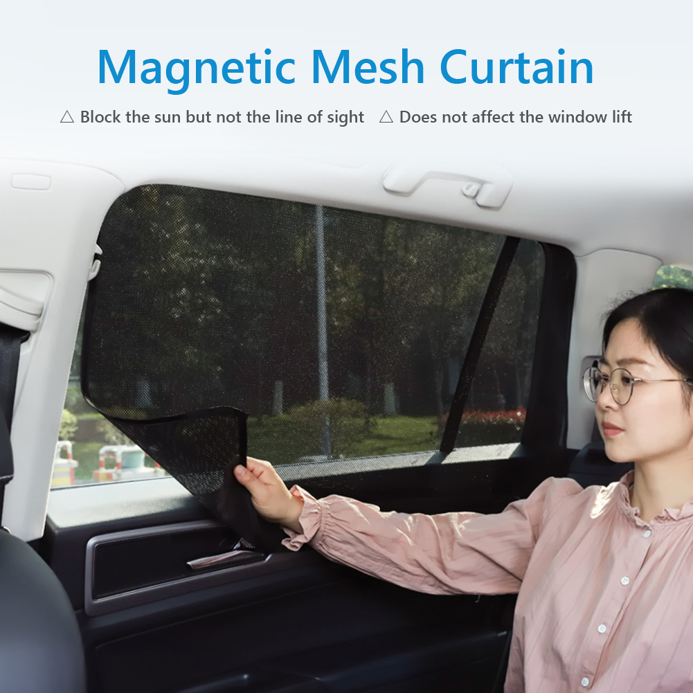 Magnetic Mesh Car Window Sun Shade Cover Summer UV Protection Car Side Window Curtain Sunshade Cover