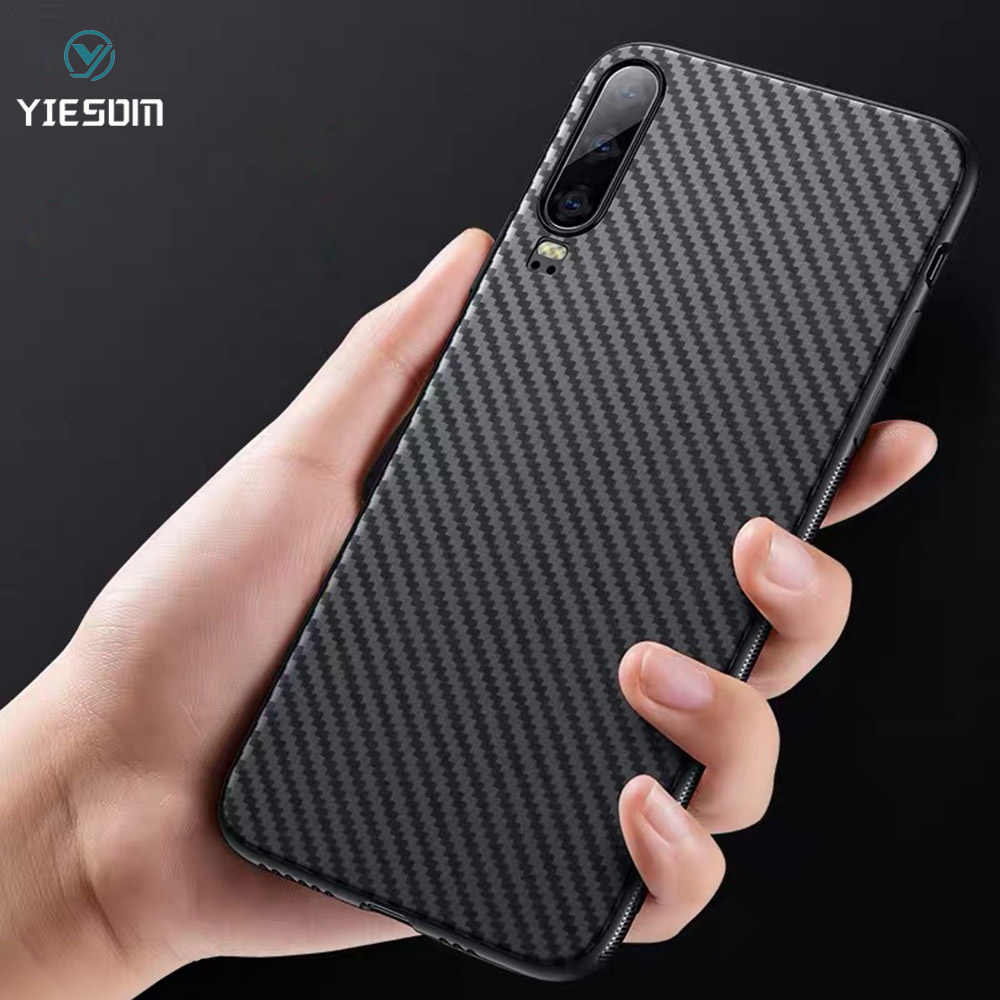 Carbon Fiber Case For Huawei P30 P20 Lite Honor 10i 8X 8A 20 Pro Y5 Y6 Y7 Y9 2019 Nova 5 4 3i P Smart Plus Soft TPU Silicon Case