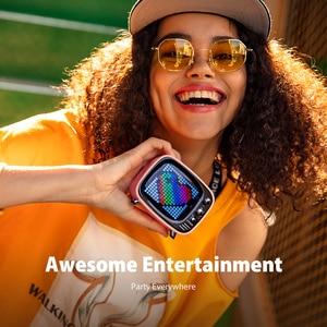 Image 5 - Divoom Tivoo נייד Bluetooth רמקול חכם שעון מעורר פיקסל אמנות DIY על ידי App LED אור סימן ב קישוט מתנה ייחודית