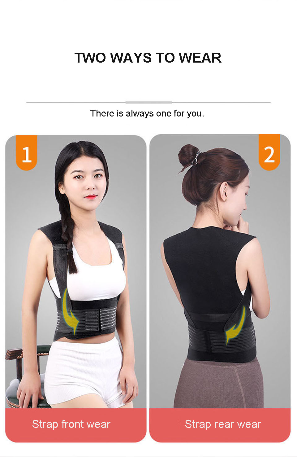 Tourmaline Self Heating Posture Corrector Belt with Nano Infrared Acupuncture Dot Matrix  to Support Spine and Shoulder Helps to Relieve Pain in Back and Joints 15