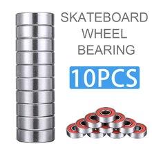 10шт подшипник ABEC 9 Красный Теннесси Инженерный пластик скутер скейтборд колеса подшипники подходит для большинства роликах скейтборд скутеры