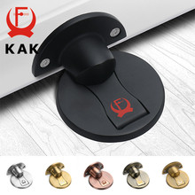 KAK 304 Stainless Steel Magnet Door Stops Magnetic Door Stopper Non-punch Door Holder Hidden Doorstop Furniture Door Hardware