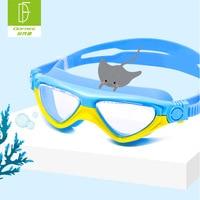 Flower fan lin CHILDREN'S Swimming Goggles Girls High definition Anti fog Swimming Glasses 3 ~ 12 Year Old Fashion Big Box BOY'S Óculos de segurança     -
