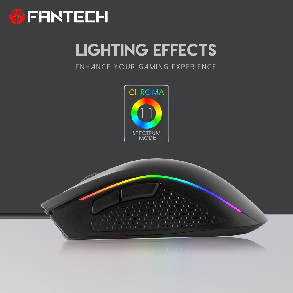 Image 2 - FANTECH X4S RGB Adjustable 4800 DPI 6D Buttons Macro Cable Mouse Professional Wired Gaming Mouse For EPS LOL In Mouse Gmaer-in Mice from Computer & Office
