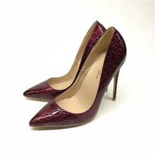 أحذية نسائية ساخنة بمقدمة مدببة أحذية براءات الاختراع والجلود ذات الكعب العالي أحذية الزفاف