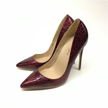 Hot Women Shoes Pointed Toe Pumps Patent Leather Dresshigh Heels Boat Wedding shoes