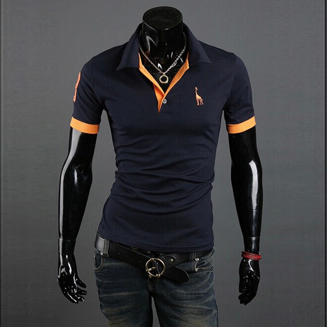 Mens Polo Shirt Brands 2019 Male Short Sleeve Fashion Casual Slim Deer Embroidery Printing Men Polos Asian Size 5XL