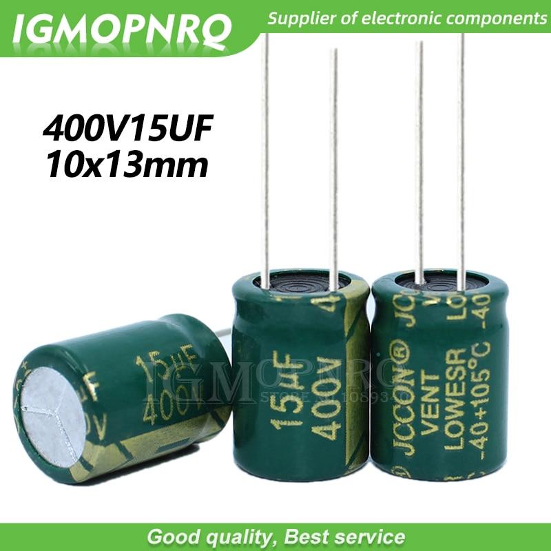 10 шт. 400V15UF 10*13 мм igmopnrq алюминиевый электролитический конденсатор высокой частоты низкое сопротивление 10x13мм|Интегральные схемы|   | АлиЭкспресс