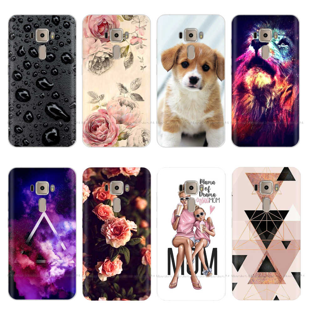 "5.2"" Soft Silicone Phone Case For Asus Zenfone 3 Cover Case Back For ASUS Zenfone 3 ze520kl Protector Case TPU Bag Mobile Cover"
