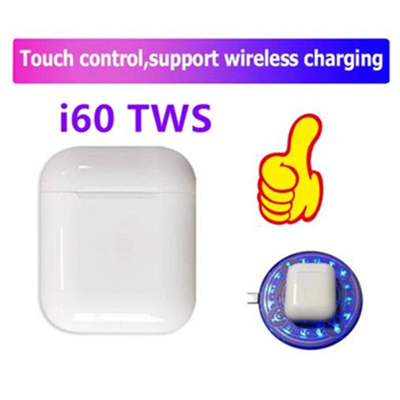 I60 TWS recharge sans fil Bluetooth 5.0 casque 6D basse contrôle tactile écouteur sans fil pk i10 tws i20 i12 i80 tws i100