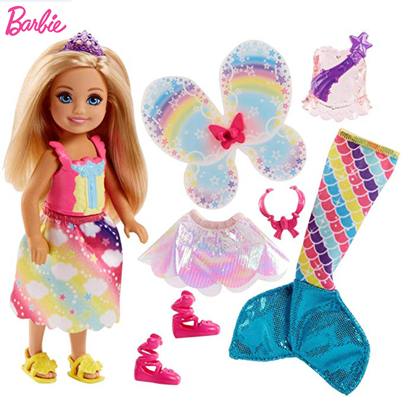 Dreamtopia Club Chelsea Barbie Doll Rainbow Clothes Mermaid Doll Barbie Accessories Elf Girls Toys For Chilren Boneca Princess Dolls Aliexpress