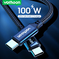 Vothoon 100W USB Type C To USB C Cable USB-C PD Fast Charging Charger Wire Cord For Macbook Samsung S20 Xiaomi Type-C USBC Cable