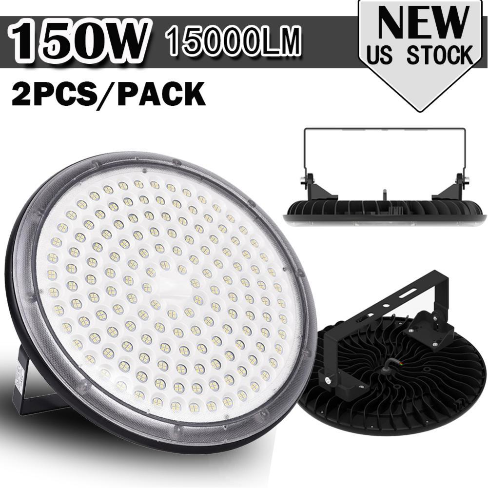 2PCS 220V 150W UFO Led High Bay Light Waterproof IP67 Mining Lamp Warehouse Workshop Garage Industrial Light For Stadium Market