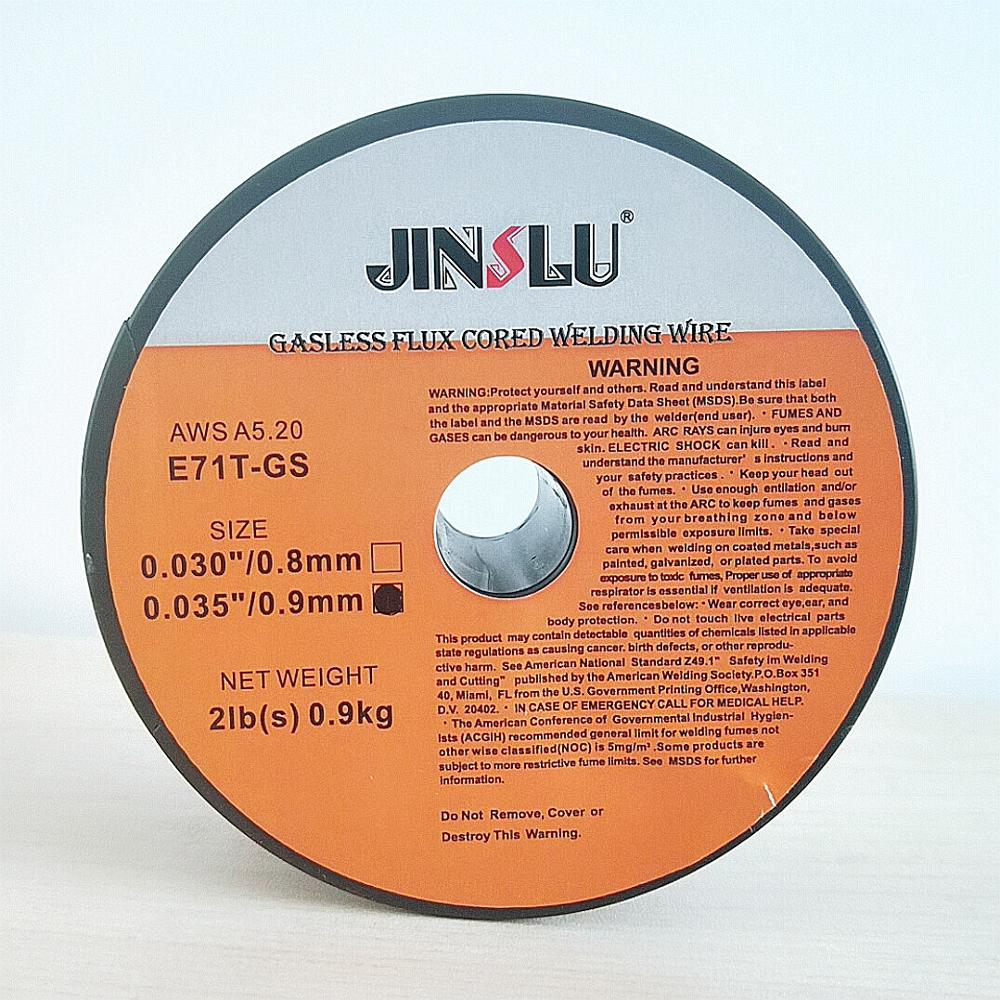 Tools : Flux Core Gasless Mig Wire Mild Steel E71T-GS   0 8   0 9mm   0 9kg 1 Roll Mig Welding Accessories