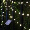 От 9 месяцев Солнечный СВЕТОДИОДНЫЙ светильник на открытом воздухе гирлянды светильник s Водонепроницаемый Фея для отдыха и вечеринок Гирл...