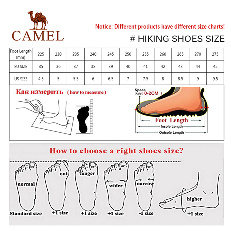 Image 5 - CAMEL New Women Shoes High Top Hiking Antiskid Breathable  Mountain Cushioning Climbing Trekking Boots Outdoor Sports ShoesHiking  Shoes