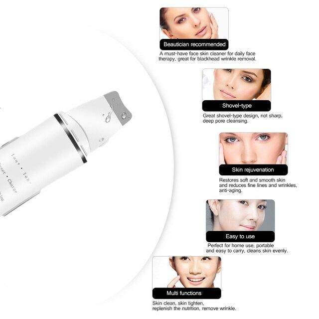Купить ультразвуковой скребок для глубокой очистки кожи лица массажер картинки цена
