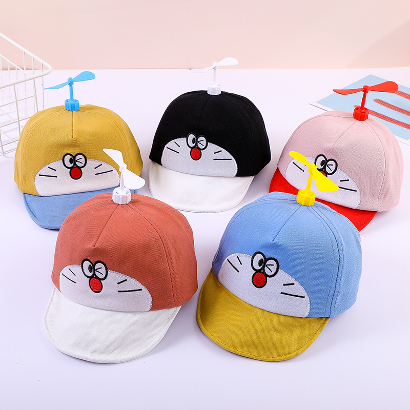 2020 New Doraemon Baby Baseball Cap Spring Cute Boys Girls Baby Soft Edge Sun Hat Fashion Caps Hat Doraemon Hats