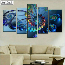 ArtBack five spell diamond painting peacock feather 5d full square landscape mosaic sticker decorative