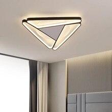 Moderna iluminação led lustre para sala de estar quarto triângulo superfície montado casa luminária lustres teto
