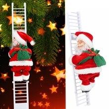 Christmas Electric Santa Claus Music Climbing Ladder Doll Xmas Kids Gift Climbing Santa for Home Birthday Wedding Party Favors