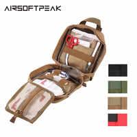 Airsoftpeak Medical First Aid Pouch Tactical Molle Portatile di Campeggio Esterna di Viaggi Kit Sopravvivere Della Copertura Del Sacchetto di Caccia di Emergenza Pack
