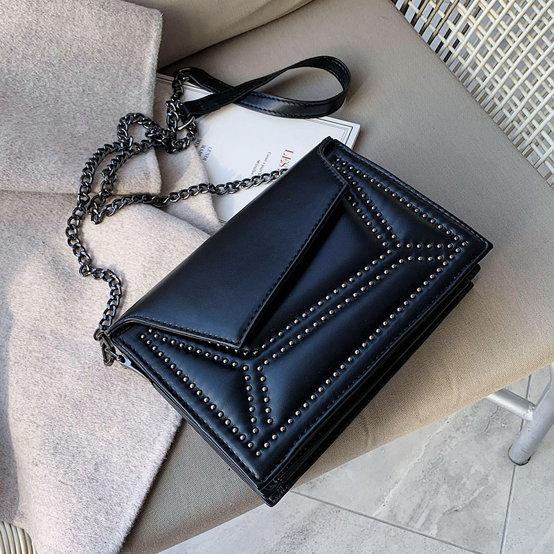 Rivets PU Leather Crossbody Bags For Women 2020 Small Chain Shoulder Messenger Bag Female Travel Handbags And Purses