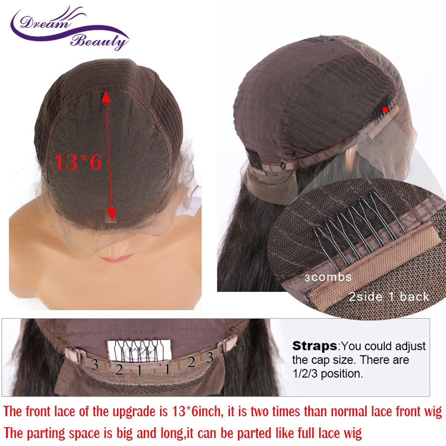 Image 2 - Highlight 13*4 Lace Front Human Hair Wigs With Baby Hair 8 28 Inches Straight Brazilian Remy Hair Bleached Knots Dream Beauty-in Human Hair Lace Wigs from Hair Extensions & Wigs