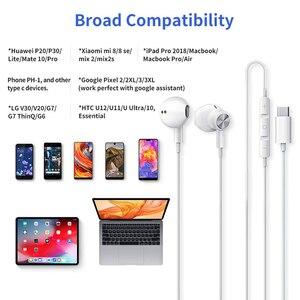 Image 5 - USB Type C наушники Google chip магнитные спортивные стерео наушники с проводным управлением для HUAWEI P30 Mate 20 Pro Xiaomi 8 Samsung