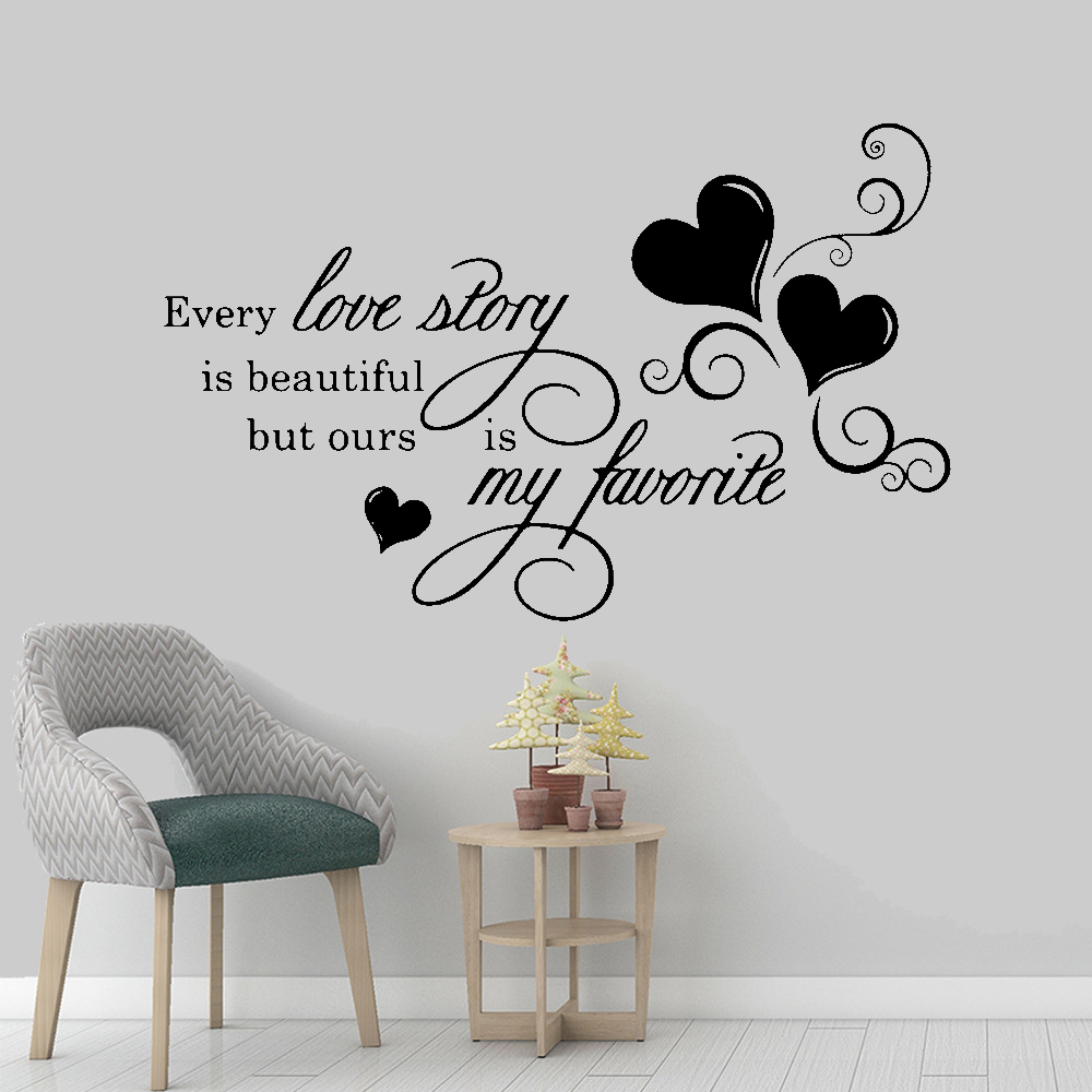 Every Love Story is Beautiful 18x18 Vinyl Wall Lettering Art Decal Sticker sewcuteandmore